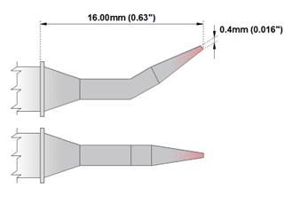 NEW Thermaltronics M8SB276 Metcal STTC-844 Soldering Tip Bent Sharp 30° 0.5mm